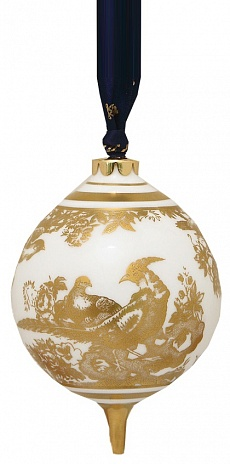 Елочное украшение Gold Aves Round Bauble